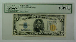 1934 A 5 Five Dollar North Africa Silver Certificate Legacy 63 Ppq