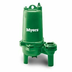 Myers Whr15h-03 High Head Sewage Pump 1.5 Hp 200v 3 Ph 20' Cord New Old Stock