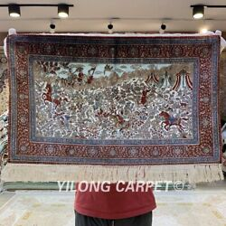 YILONG 1.5'x2' 800 Lines High Density Handmade Silk Tapestry Indoor Rug Y015H
