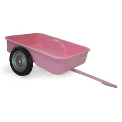 Pink Pedal Tractor Trailer With Metal Hitch And Plastic Body By Scale Models