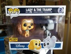 Funko Pop 2-pack Lady And The Tramp Vinyl Figure Set Hot Topic Exclusive Disney Nw
