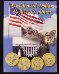 2007 To 2016 Presidential Dollar Set In Folder 39 Coins Total