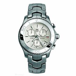 Tag Heuer Cj1111.ba0576 Link 42mm Menand039s Chronograph Stainless Steel Watch