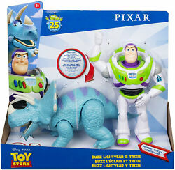Disney Pixar Toy Story Poseable Buzz Lightyear And Trixie 2-pack Brand New