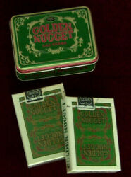 Vintage Golden Nugget Las Vegas Playing Cards 2 Sealed Green Decks And Mint Tin