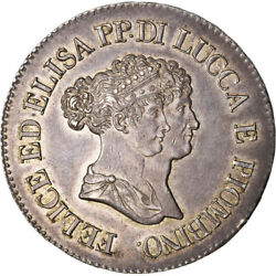 [489503] Coin Italian States Lucca Felix And Elisa 5 Franchi 1805 Firenze