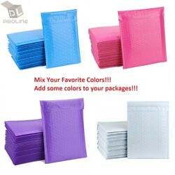 Mix Your Color 100 Poly Bubble Padded Shipping Envelopes Mailers 5 10.5x16