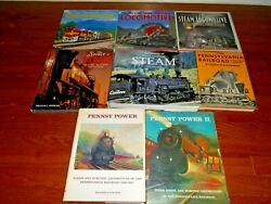 Lot Of 8 Steam Diesel And Electric Locomotives Books - Pennsy Power 1 And 2 Oop