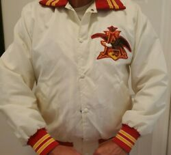 Vintage Anheuser Busch Budweiser Ae Employee Coaches Jacket Coat Size Large
