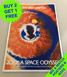 2001 A Space Odyssey 1968 Andbull The Ultimate Trip Andbull A4 - A1 Size Andbull Poster Print