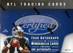 2011 Panini Certified Football Hobby 8 Box Case Blowout Cards