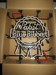 No Shipping Authentic New Pabst Blue Ribbon Pbr Neon Beer Bar Sign Light