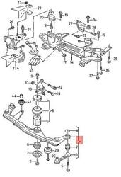 Genuine Seat Vw Cordoba Vario Engine Carrier With Rubber Mounting 6k0199200d