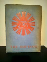 Aleister Crowley Equinox Volume 3 Number 1 First Edition 1919 Occult Magick