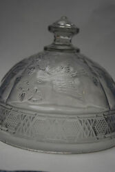 Bird And Strawberries Butter Dish Lid - Indiana Glass Co. - Made From 1910-1920