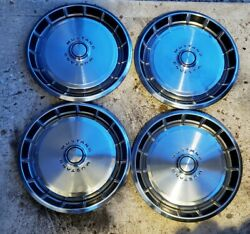 Vintage Set Of 4 Oem 1971 1972 1973 Ford Mustang 14 Deluxe Hubcaps Wheel Covers