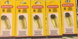 Nwt - Ronson Flints 6 Per Card/lot Of 5. Can Be Used For Zippo Lighters.