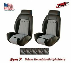 Sport R Deluxe Houndstooth Bucket Seat Upholstery For 1970 Camaro -tmi Products