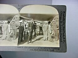 Vintage Antique Stereo View Card Charles Lindbergh Spirit Of St. Louis Airplane