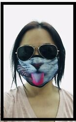 Animal Cat 3D Unisex Double Layer Face Mask Reusable Washable Cover Masks Cloth $10.45