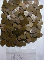 1912 Lincoln Wheat Cent Lot With 500 Coins  M689