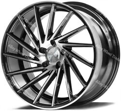 20 Black Zx1 Alloy Wheels Fits Bmw 5 6 7 8 Series Models Staggered Wheels