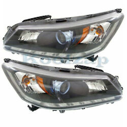 Fits 14-15 Accord Hybrid Front Headlight Headlamp Halogen Head Light Set Pair