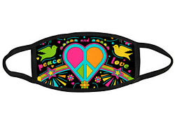 Peace and Love heart peace sign design Washable reusable double fabric face mask $13.00