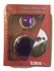 Crystal Mirror and Handbag Caddy Set. Purple Color Totes For Her $8.14