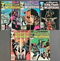 [stan Lee] Kitty Pryde And Wolverine Lot Of 5 Nos. 1, 2, 4-6 1984-1985