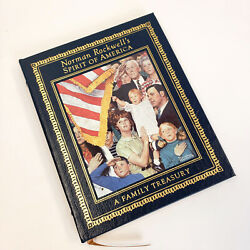 Norman Rockwell's Spirit Of America A Family Treasury Deluxe Leather 1st Ed.