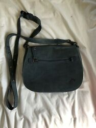 Velez Leather Bags Blue Crossbody Messenger Made in Colombia $22.00