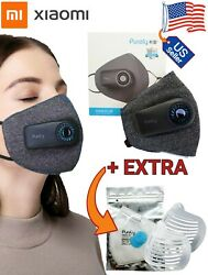 Xiaomi PURELY Fresh Air Purifying Electric Respirator Facemask with fan Reusable $46.50
