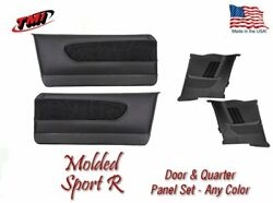1964-66 Mustang Molded Sport R Door And Quarter Panel Set - Your Choice Of Stitch
