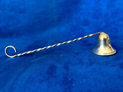 Antique Sterling Silver Bell Shape Long Handle Candle Snuffer Wick Extinguisher