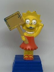 The Simpsons Movie Burger King Toy Lisa Recycling Sign 2007 Cake Topper 3.5