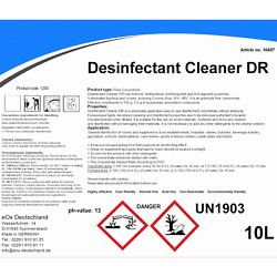 Disinfectant Cleaner Dr 10l Concentrate Antiviral Antibacterial Cost Andpound0.18 Per L