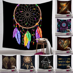 Stylish Dream Catcher Feather Tapestry Wall Hanging Blanket Room Dorm Decor Gift