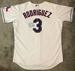 Alex Rodriguez Unwashed Game Used Autographed Texas Rangers Jersey Mvp Season