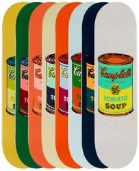Andy Warhol Skateboard Colored Campbell's Soup Cans Art Print Complete Set Of 8