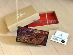 100% Authentic $1690 Christian Louboutin Boudoir Strass Clutch Evening Bag $500.00