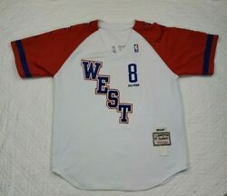Mitchell And Ness Nba Kobe Bryant West All Star Jersey Shirt Number 8 Size L