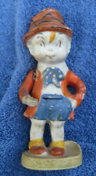 Vintage 1930s Skippy Bisque Japan Toothbrush Holder Percy Crosby Comic Character