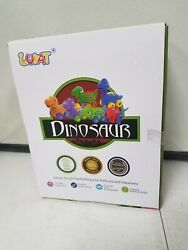 Lukat Toddler Early Education Toy Dinosaur Cars, Dinosaurs Pull Back Vehicles