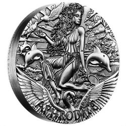 2015 Tuvalu Goddesses Of Olympus - Aphrodite 2oz Silver High Relief Coin