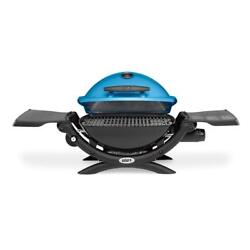 Weber Q 1200 Portable Tabletop Propane Gas Bbq Grill Quick Outdoor Camping Blue