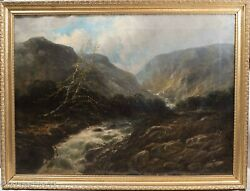 Antique French Oil Painting Attr Paul Desire Trouillebert River Fishing Large