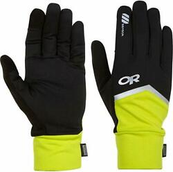 Outdoor Research Speed Sensor Reflective Touch-Screen Water-Resistant Gloves NWT $18.99