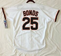 Authentic Russell Athletic 44 Large San Francisco Giants Barry Bonds Jersey Rare
