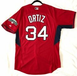 Authentic Majestic 48 Xl Boston Red Sox David Ortiz Red Cool Base Jersey Sharp